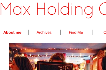 Max Holding On: Website Design